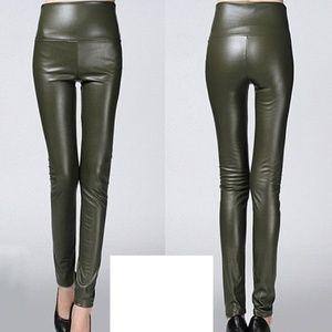 Pants - Leather High Waist Elastic Skinny Women Pants